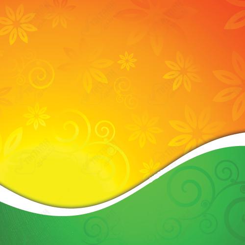 دانلود پس زمینه لایه باز سبز و نارنجی