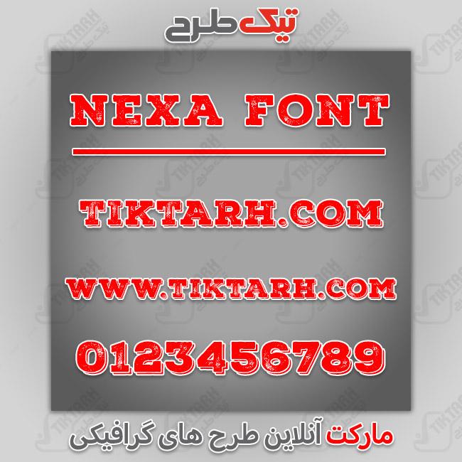 دانلود فونت انگلیسی nexa