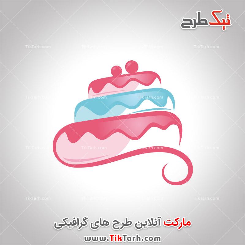 دانلود لوگو لایه باز فانتزی با طرح کیک تولد