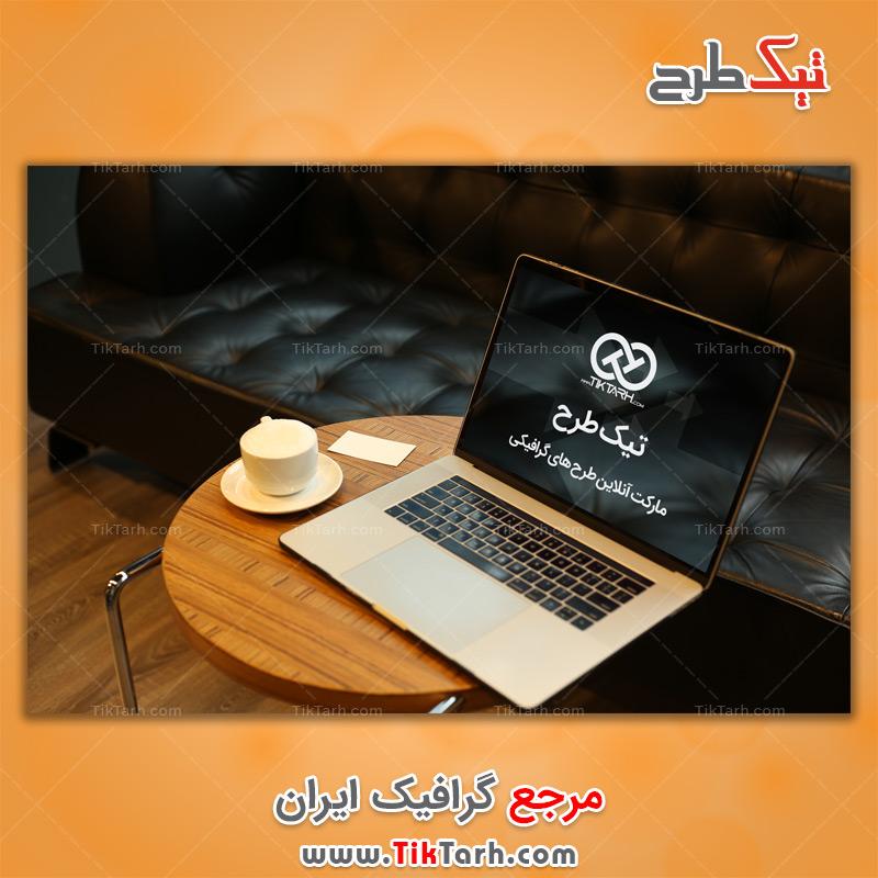 طرح آماده موکاپ لپ تاپ و میز