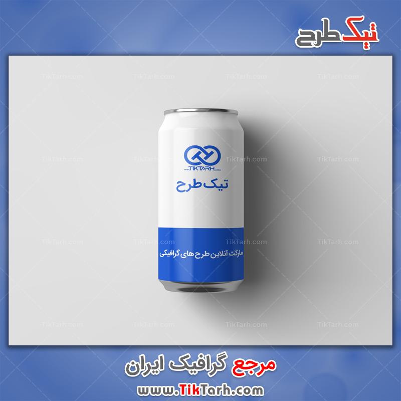 دانلود موکاپ با کیفیت بطری فلزی