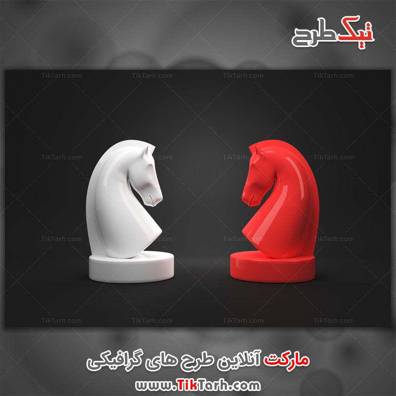عکس لارج فرمت مهره اسب شطرنج
