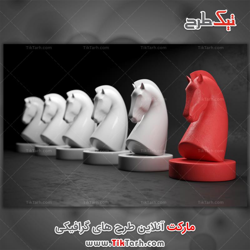 دانلود تصویر با کیفیت مهره های قرمز و سفید شطرنج