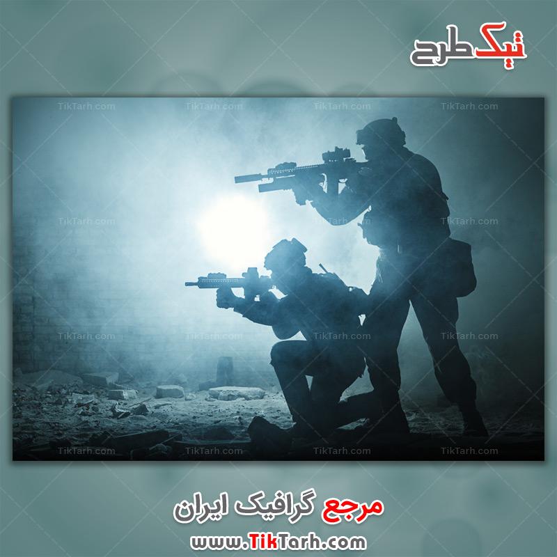 دانلود عکس با کیفیت سربازان شبح سیاه