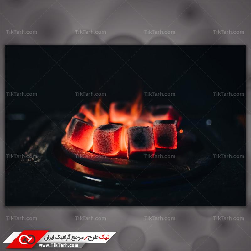 دانلود تصویر با کیفیت زغالهای سرخ شده