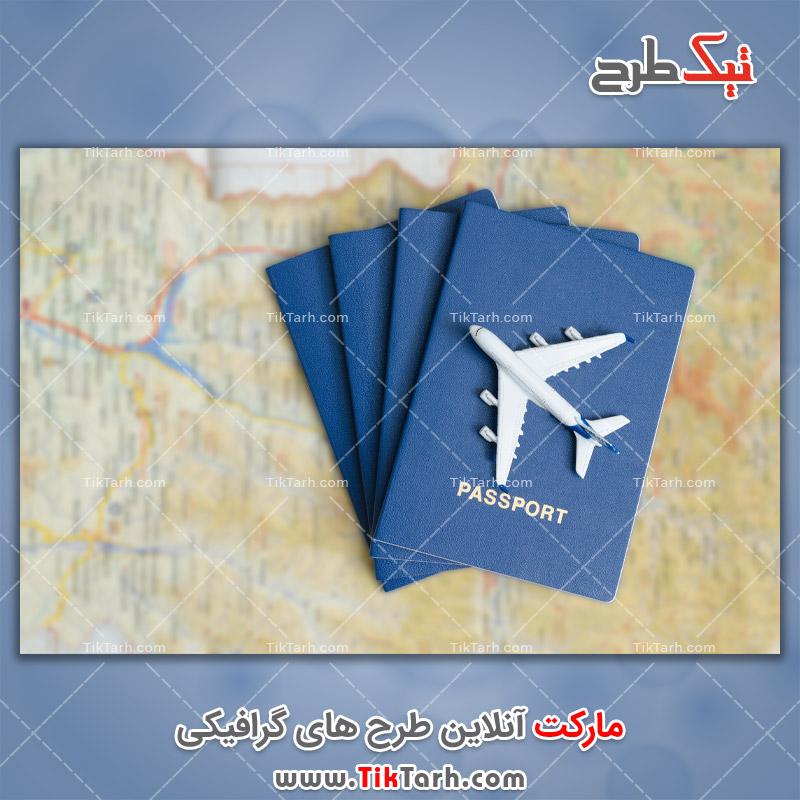 دانلود تصویر با کیفیت هواپیما و پاسپورت