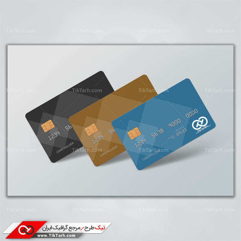 طرح لایه بازموکاپ کارت اعتباری