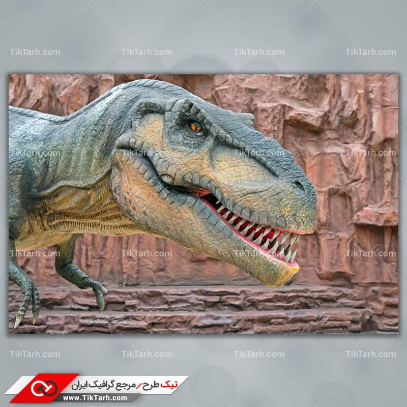 تصویر لارج فرمت دایناسور گوشت خوار خوفناک