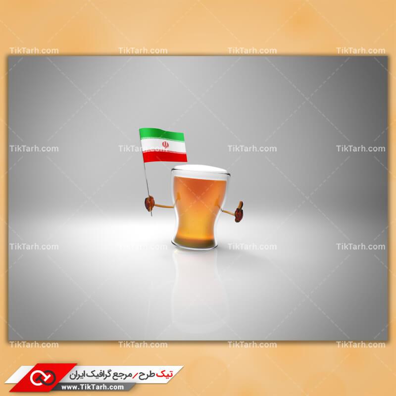 دانلود عکس با کیفیت نوشیدنی و پرچم ایران