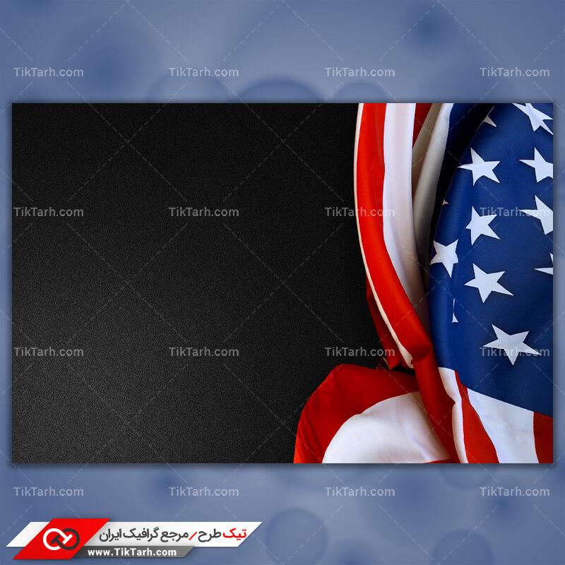 دانلود عکس با کیفیت پرچم کشور ایالات متحده آمریکا