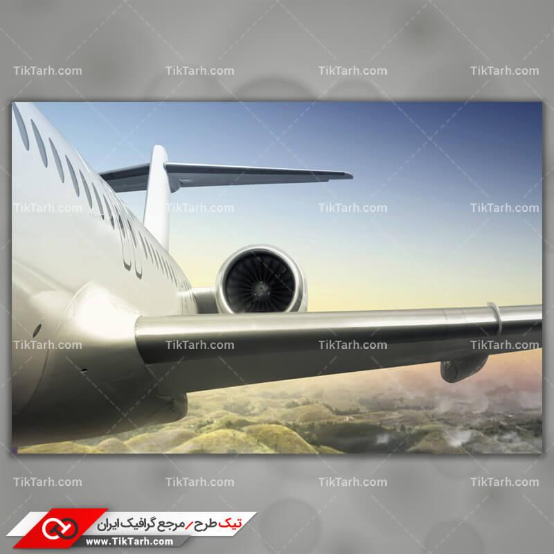 دانلود تصویر با کیفیت هواپیما درحال پرواز