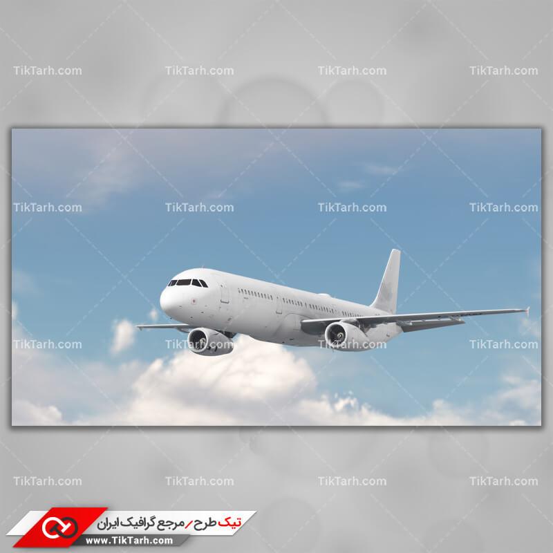دانلود تصویر با کیفیت هواپیما و ابرها