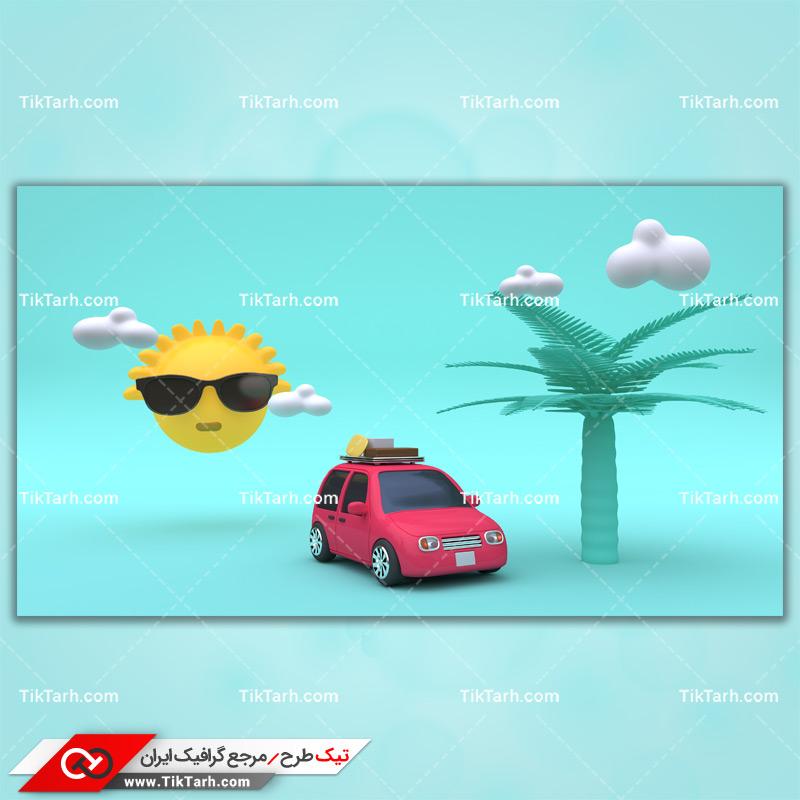 دانلود تصویر با کیفیت مسافرت با ماشین در تابستان