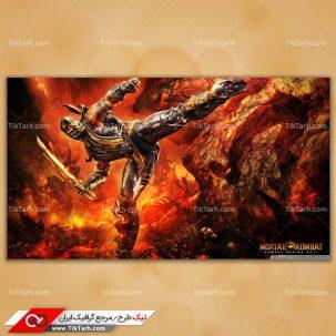 دانلود تصویر با کیفیت بازی mortal kombat 9 scorpion