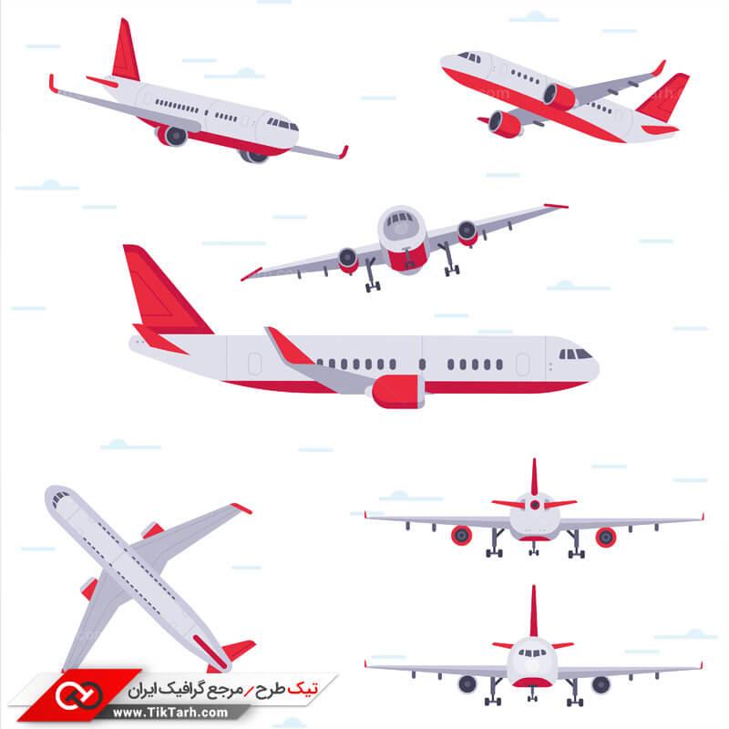 دانلود کلیپ آرت هواپیمای مسافربری