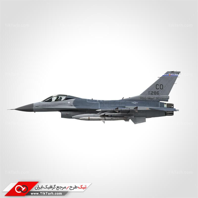 دانلود عکس هواپیمای شکاری اف 16 مسلح به موشک