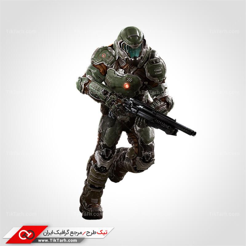 دانلود طرح لایه باز سرباز با تجهیزات فوق مدرن