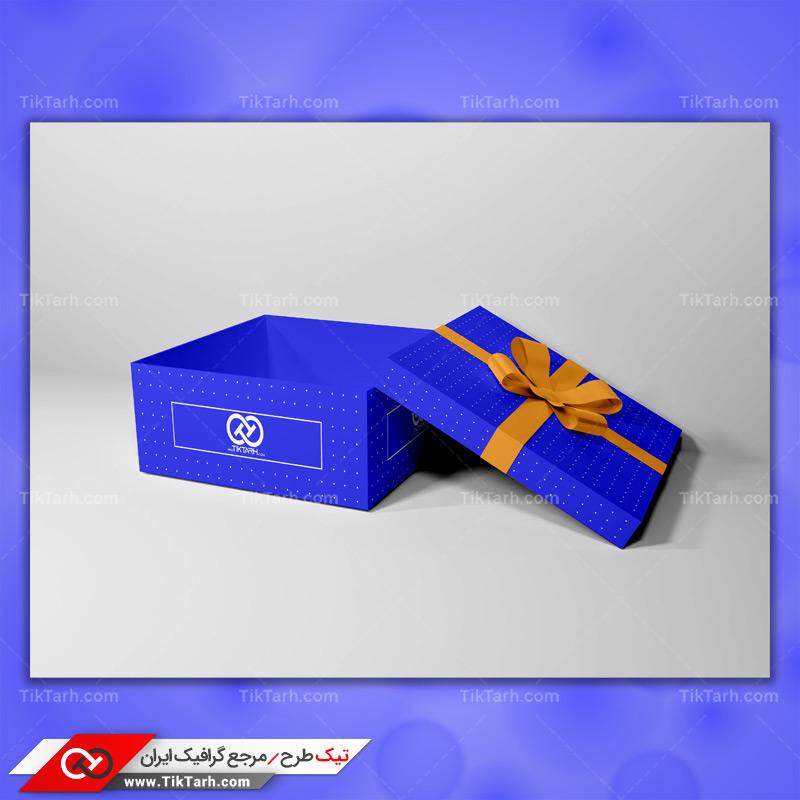 موکاپ جعبه کادو آبی