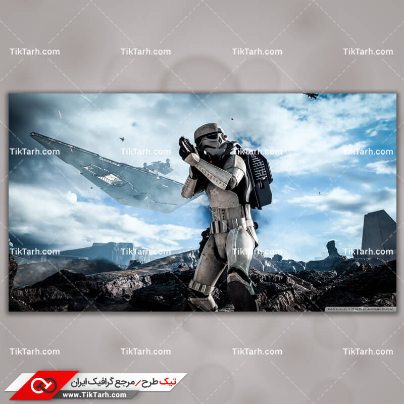 تصویر با کیفیت بازی star wars battlefront stormtrooper