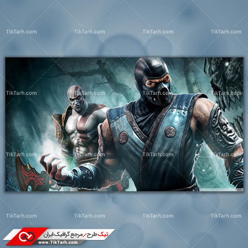 تصویر با کیفیت بازی sub zero and kratos