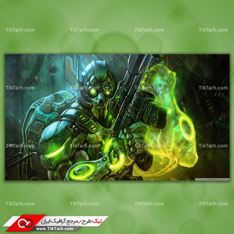 تصویر با کیفیت بازی terran ghost starcraft 2