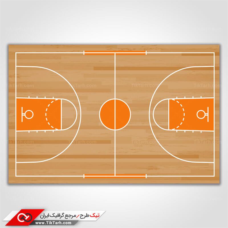 پس زمینه طراحی با طرح زمین بسکتبال