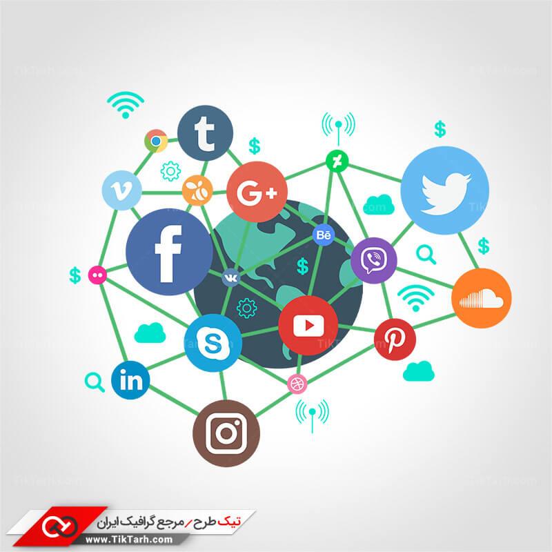 دانلود کلیپ آرت شبکه های اجتماعی