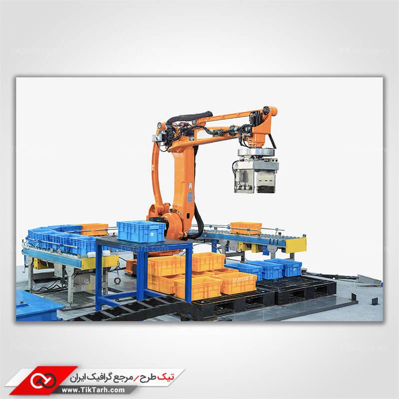 دانلود تصویر با کیفیت ربات بزرگ صنعتی
