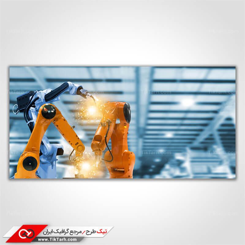 دانلود تصویر با کیفیت ربات صنعتی جوشکار