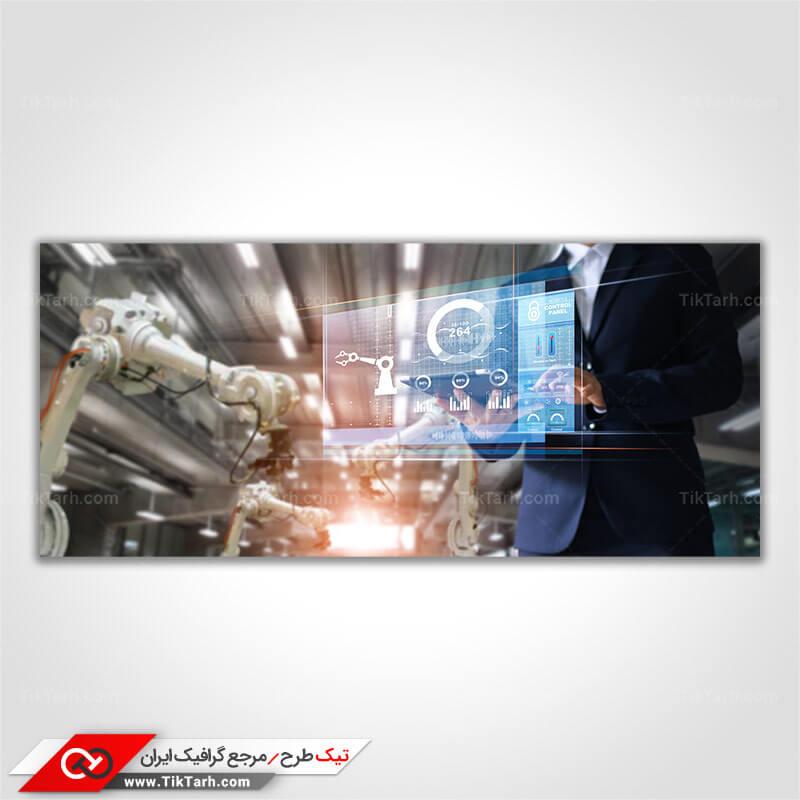 دانلود تصویر با کیفیت ربات های کارخانه