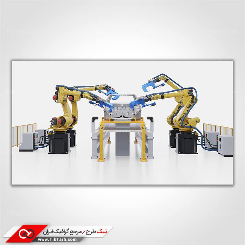 دانلود عکس با کیفیت ربات های کارخانه