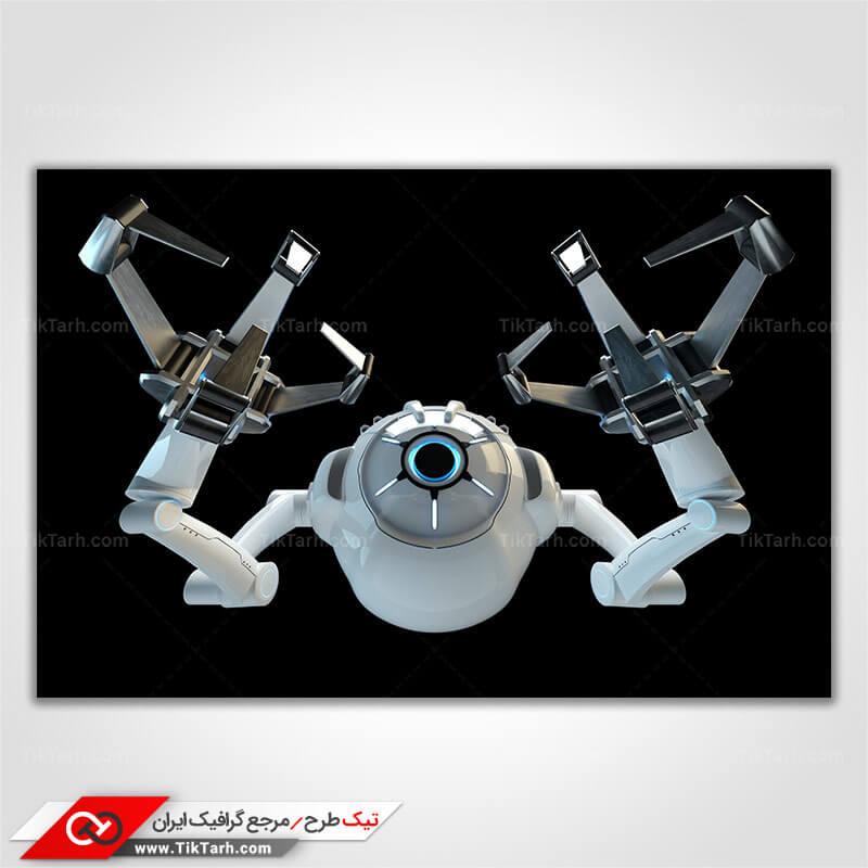 دانلود تصویر با کیفیت ربات با زمینه مشکی