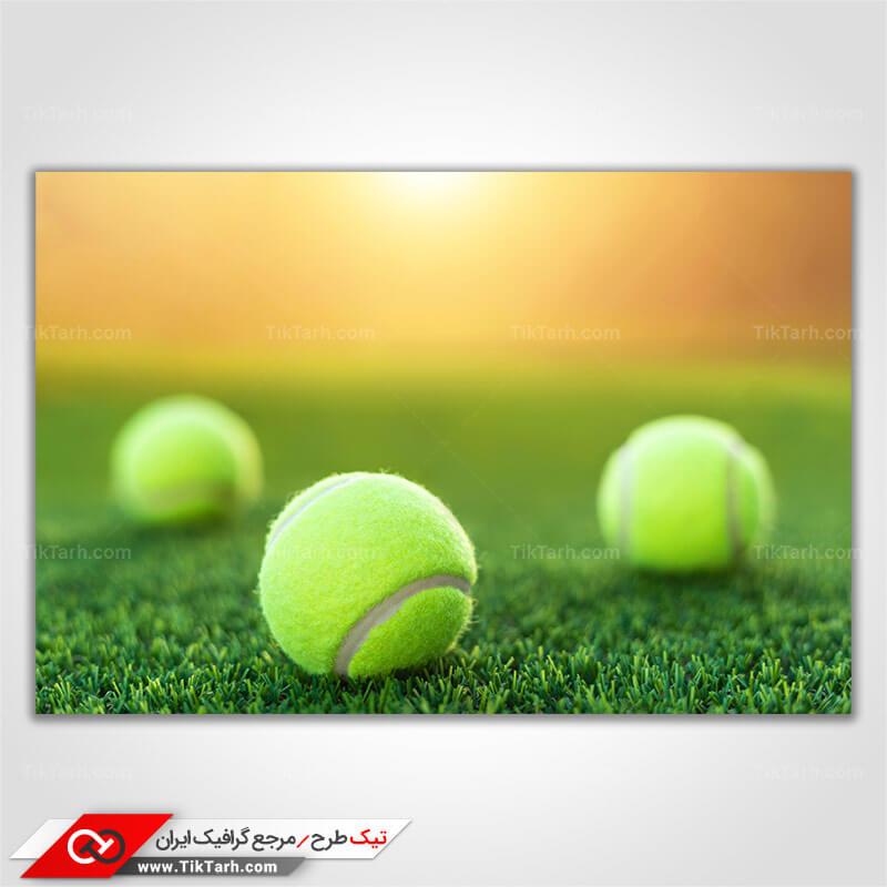 دانلود تصویر با کیفیت توپ تنیس
