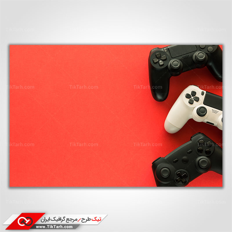 تصویر با کیفیت دسته های بازی سفید و مشکی