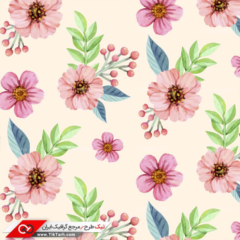 دانلود پترن لایه باز با طرح گل