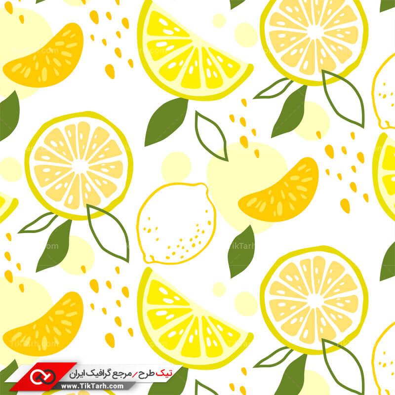 دانلود پترن لایه باز با طرح لیموترش و پرتقال