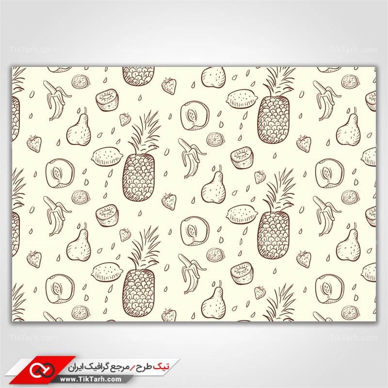 دانلود پترن لایه باز با طرح آناناس و هلو