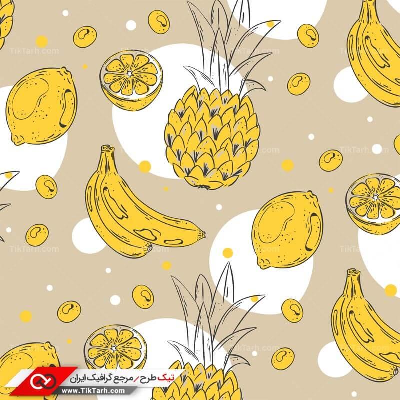 دانلود پترن لایه باز با طرح آناناس و موز