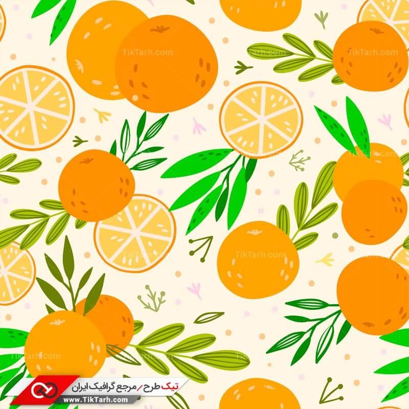 دانلود پترن لایه باز با طرح پرتقال