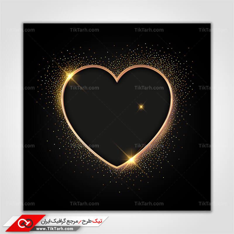 پس زمینه طراحی قلب با زمینه مشکی