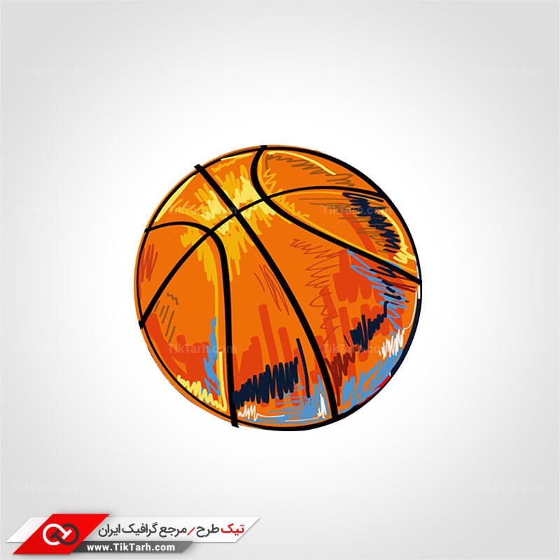 طرح گرافیکی کلیپ آرت توپ بسکتبال
