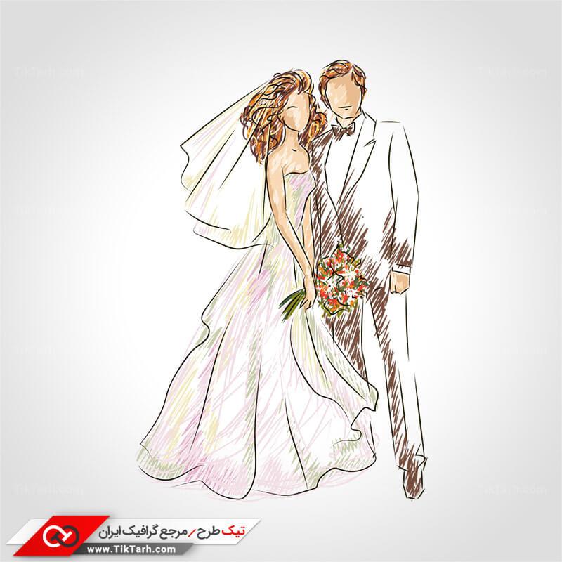 طرح عروس و داماد