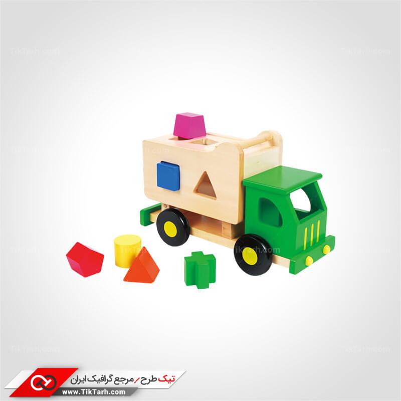 طرح گرافیکی کامیون اسباب بازی