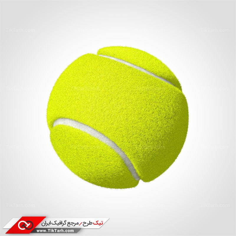 دانلود طرح گرافیکی توپ تنیس