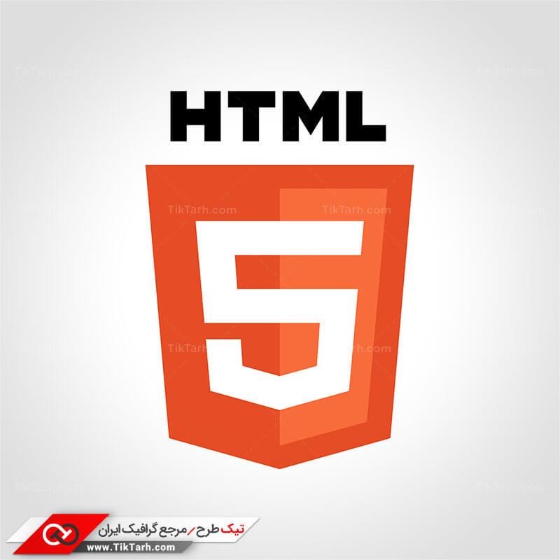 دانلود طرح لایه باز آیکون زبان HTML