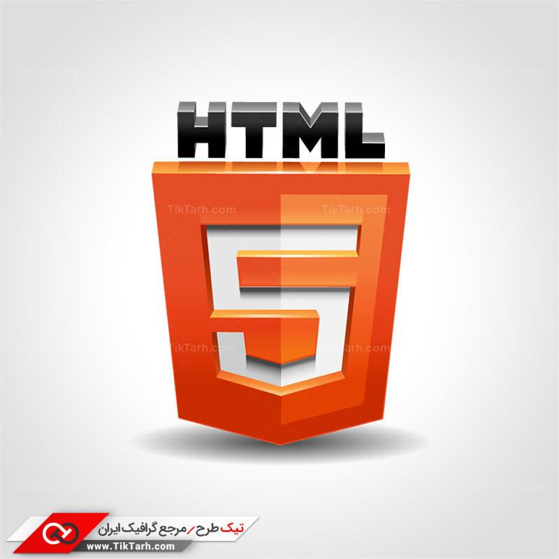 طرح لایه باز آیکون زبان HTML