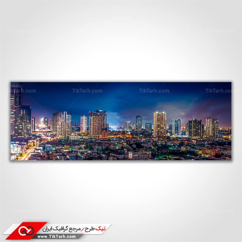 دانلود عکس با کیفیت ساختمان های شهر در شب