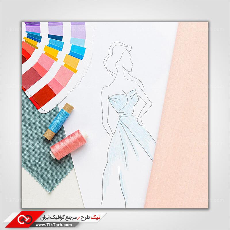 تصویر با کیفیت طراحی لباس