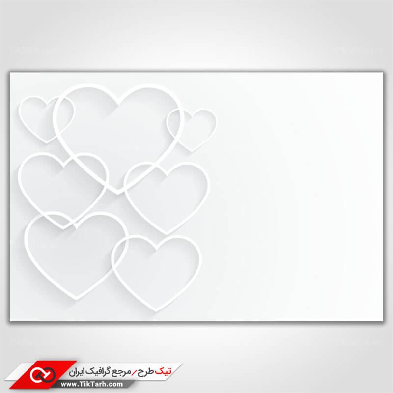 پس زمینه طراحی قلب با زمینه سفید