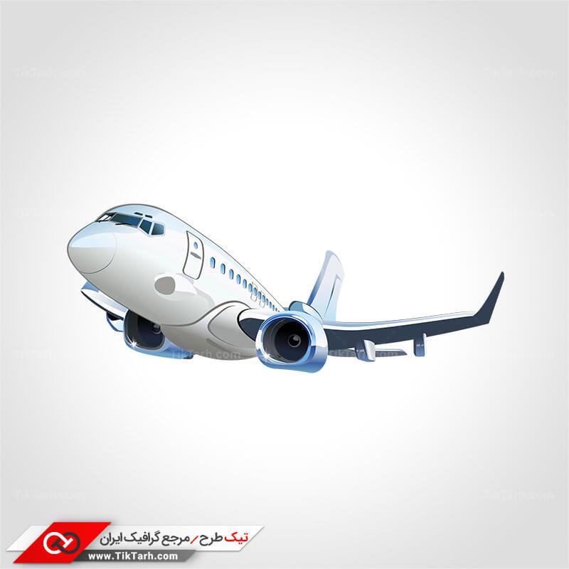 طرح گرافیکی کلیپ آرت با طرح هواپیما